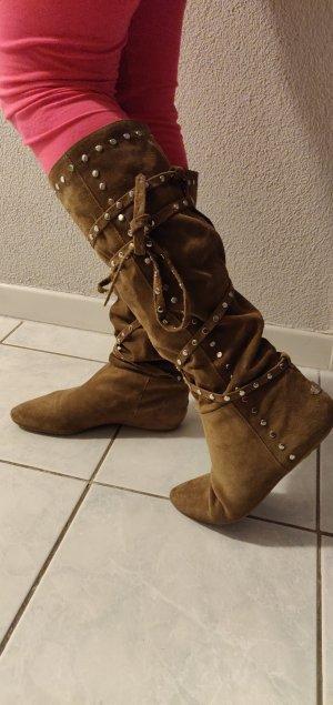 Stiefel aus Veloursleder von Jimmy Choo