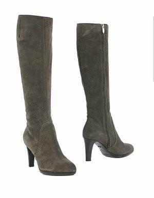 Sergio Rossi High Heel Boots green grey