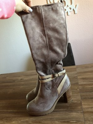 AF Heel Boots beige-light grey