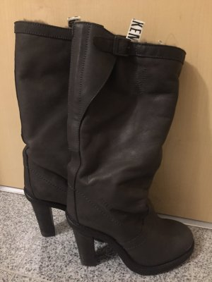 Bikkembergs Winter Boots anthracite-dark green leather
