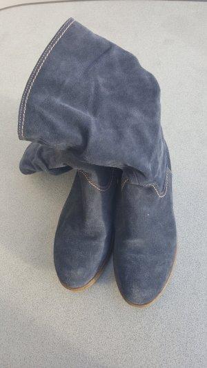 Stiefel blau 1x getragen