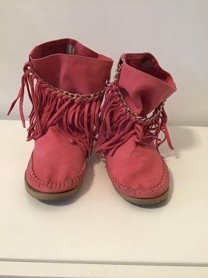 Western Booties pink-magenta