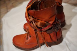 Stiefel Boots Air Step Rost Orange braun Größe 38