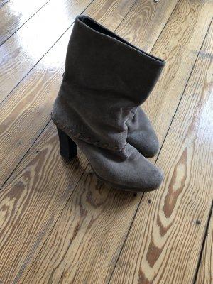 Stiefel Boots Boho Style Gr.40 Leder taupe
