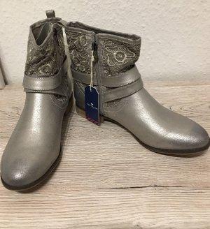 Stiefel Boots *Gr. 40* Silber *Tom Tailor* NEU