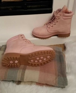 Stiefel Boots rosa 39 nude blogger hipster boho vintage Schuhe