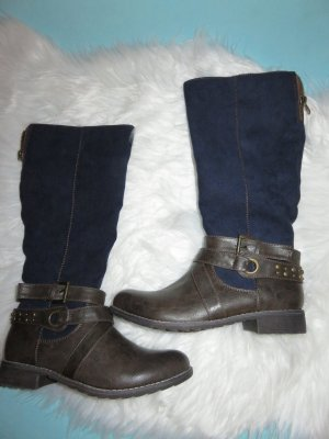Pep Step Riding Boots bronze-colored-dark blue imitation leather