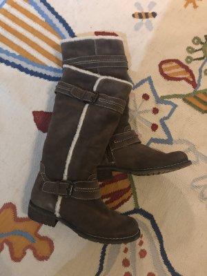 Stiefel braun gefüttert Boots Mode Blogger Fashion 37 Winterschuhe Stiefeletten