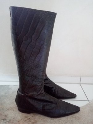 Jackboots black brown leather
