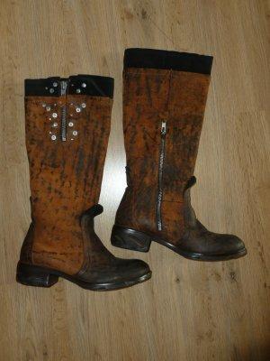 Stiefel braun Leder papucei