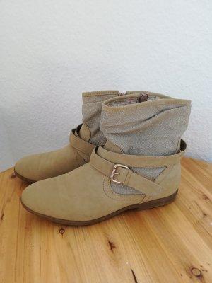 Stiefel braun Silber Schnalle Gr. 38