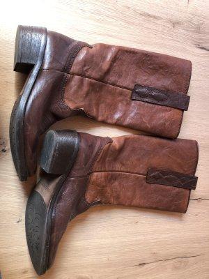 Vero Cuoio Laarzen met hak bruin-donkerbruin