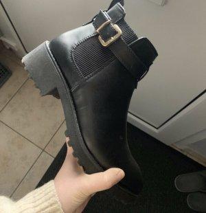 H&M Halfhoge laarzen zwart-goud
