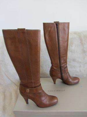 Coccinelle Jackboots cognac-coloured leather