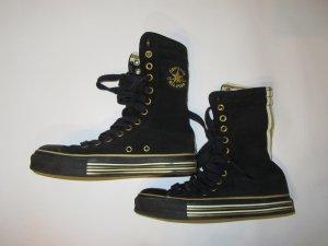 Stiefel Converse Chucks schwarz Leder Gr. 36,5