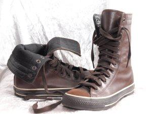 Converse Botas con cordones marrón Cuero