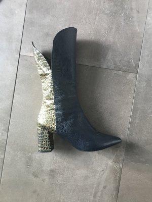 Heine Korte laarzen goud-donkerblauw