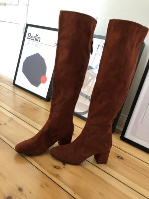 H&M Botas sobre la rodilla marrón