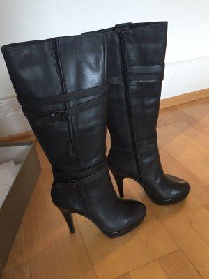 Bruno Premi Platform Boots dark grey leather