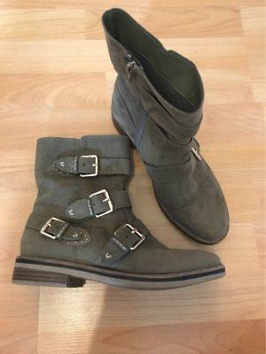 Graceland Short Boots khaki