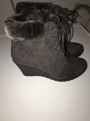 Deichmann Short Boots dark grey