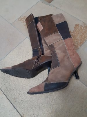 High Heel Boots multicolored leather