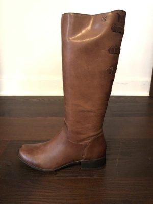 Caprice Jackboots cognac-coloured-brown