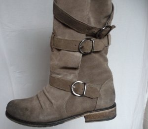 Stiefel Fell Vintage look grau braun