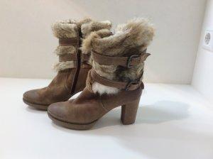 Stiefel, Fellstiefel, Stiefelette, Boots mit Echtfell