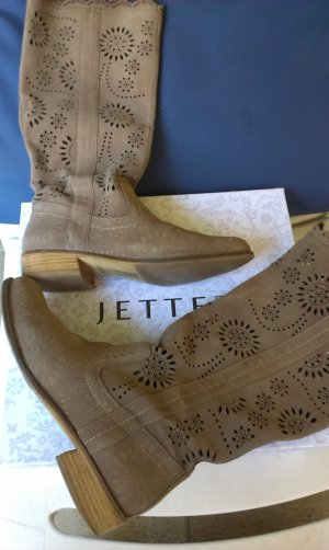 """Stiefel, Flat Boot Jette, """"cut out"""""""