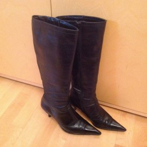 Stiefel-Glattleder schwarz