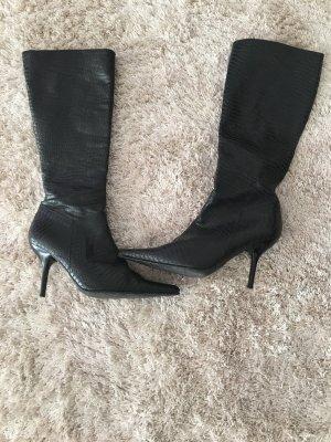 Stiefel Gr 36 von Piolo Italy schwarz