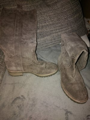 Botas altas gris-marrón grisáceo