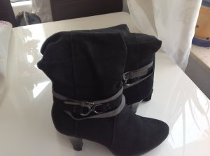 Platform Boots black imitation leather