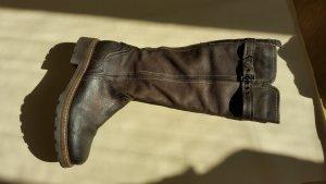 Manas Winter Boots dark brown leather