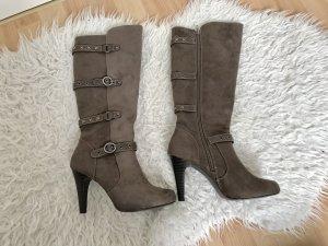 Graceland Laarzen met hak taupe-zwart bruin