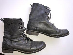 Stiefel Grau gr 40/41 Vintage!