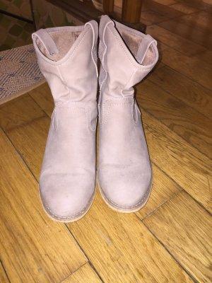 Stiefel Größe 36, grau-braun