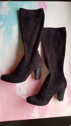 Stiefel Größe 37 schwarz mit Absatz