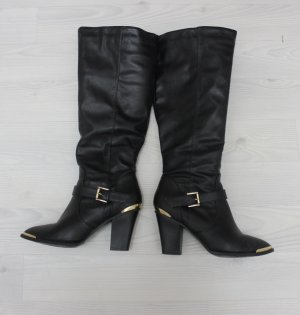 Boots black-gold-colored