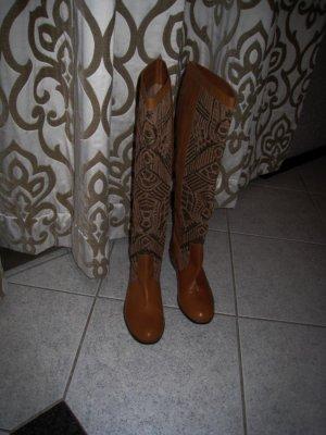 Antik Batik Stivale militare marrone chiaro Pelle