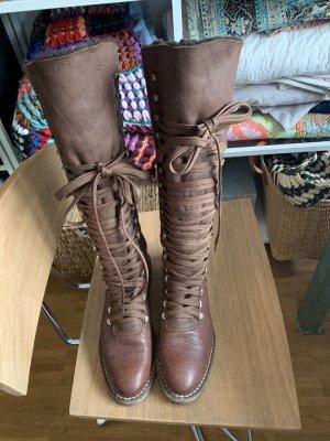 Hugo Boss Bottes à lacets brun