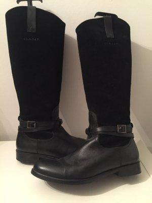 Stiefel im Reiterlook, Glatt- und Wildledermix von GANT wie neu! Sehr elegant!