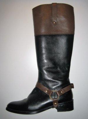 Botas de equitación negro-marrón Cuero