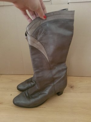 Short Boots grey-dark grey leather