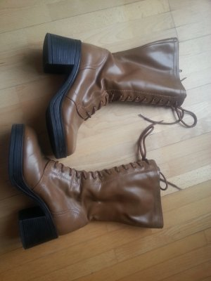 Graceland Lace-up Boots camel-cognac-coloured