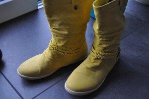 Stivale a gamba corta giallo