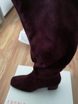 Stiefel in kirsch rot