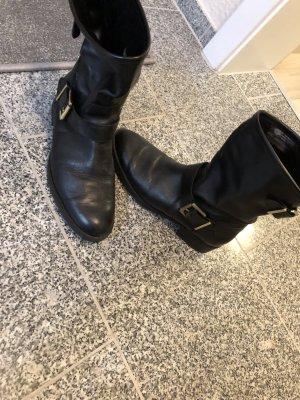 Stiefel in schwarz echtleder