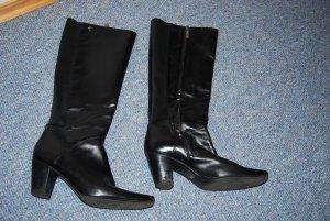 Stiefel in schwarz Leder + Stretch Größe 38 Marc O´Polo